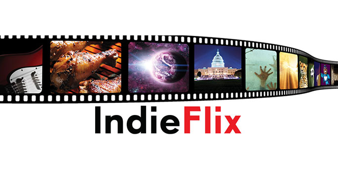 Promotional graphic for Indieflix