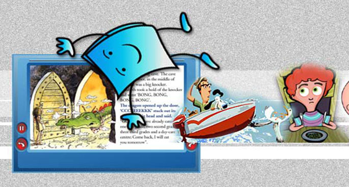 Tumblebooks promotional graphics