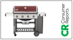 Picture of Gas Grill with the Consumer Reports logo on the side
