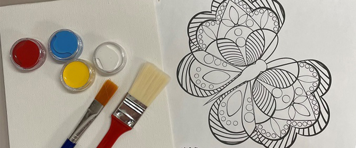 Paint, brush, colouring pages