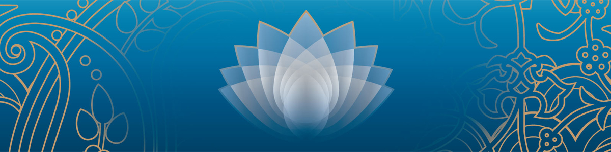 Lotus image and scrollwork patterns