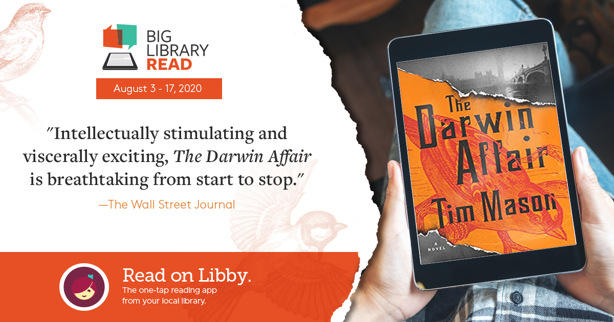 The Big Library Read for August 2020 is The Darwin Affair
