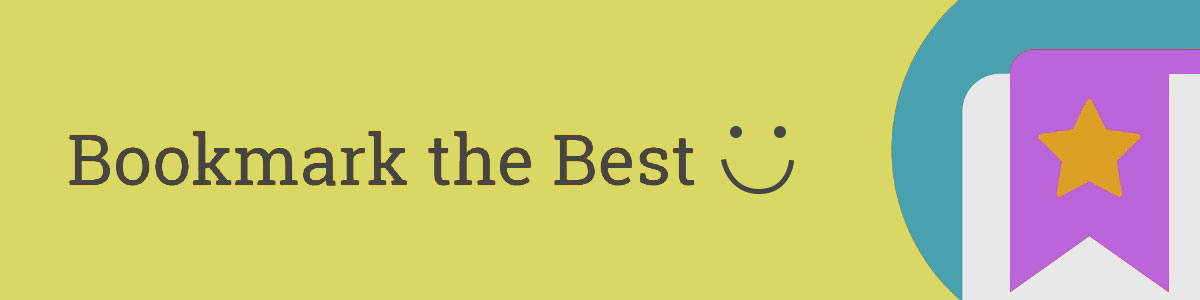 Bookmark the Best graphic with smiley face