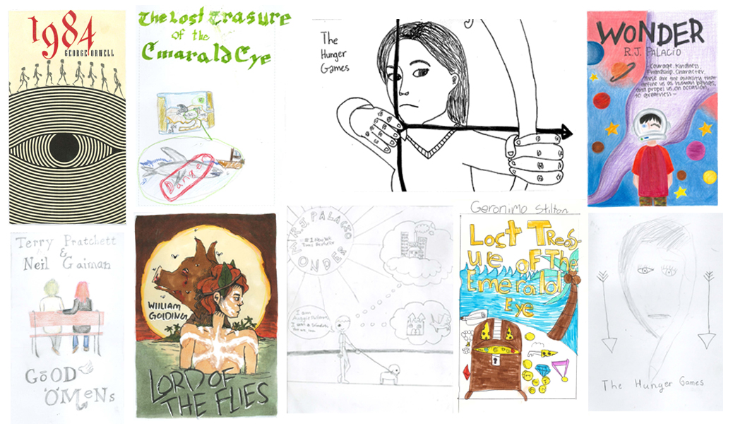 Collage of Book Cover Swap Contest entries
