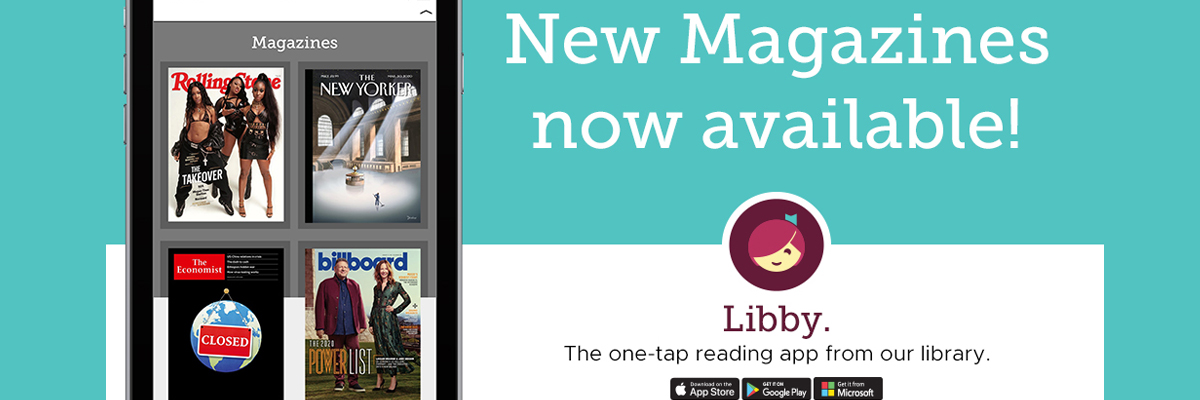 Magazines are now available on the Libby app