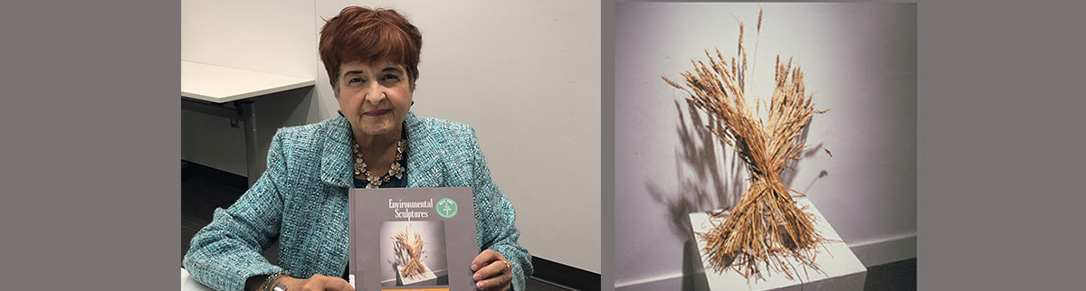 Author Sherrill Hardy and her book Environmental Sculptures