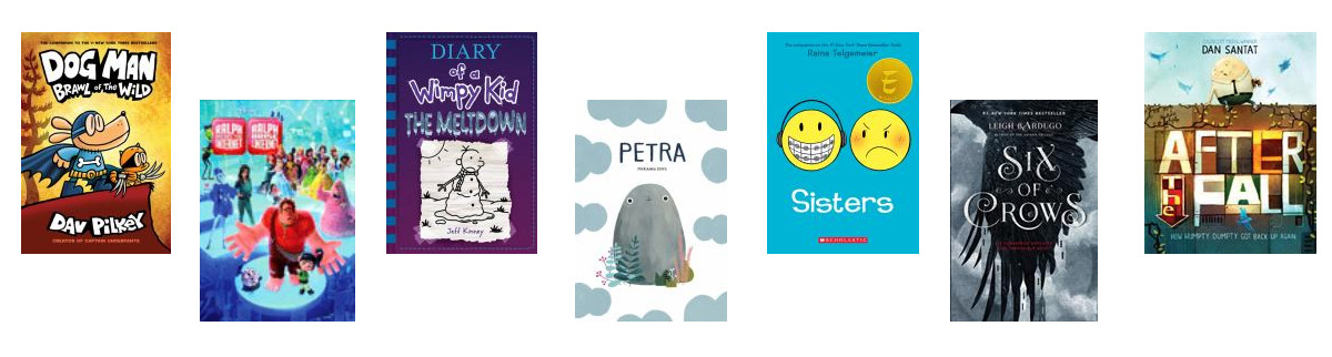 Selected book covers of the most borrowed books at the Port Moody Public Library in 2019